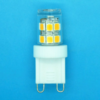 G9 2.3W Ceramic LED, AC 100-120V/200-240V, 17PCS SMD2835 LED Lamp, RA>80, Epistar Chipset, 100lm/w, 100pcs/lot