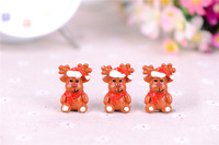 Free shipping! very hot and kawaii Resin Christmas reindeer  Flat back cabochons  for DIY phone case decoration 20PCS/lot mixed