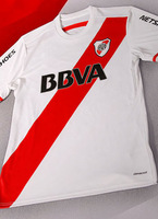 2015 River Plate jersey home white color  soccer  jerseys top thailand quality can be customized name number