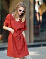 new 2014 European style casual fashion dress(freeshipping)