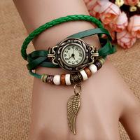 Retail free shipping New fashion Vintage quartz watch women relogio masculino cartoon watches 6 color