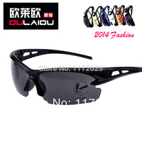 2014NEW Rectangle Outdoor Men High-Grade Exlosion-Proof Sunglasses Driving Fishing Riding Glasses Protect Dazzling