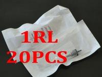 1RL 20Pcs Sterilized Disposable Tattoo & Permanent Makeup Rotary  Machine Needles For  lips Tattoo Rotary Pen Kits Supply