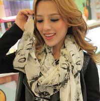 South Korea fashion chiffon Silk scarves The scarf