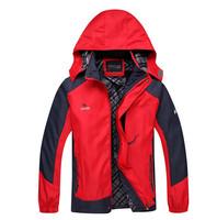 2014 autmn  Camping Hiking Men Jacket Outdoor jacket Sportswear Hooded Plus villi Waterproof Outerwear plus big yards L-XXXL