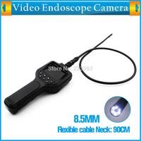 "2.8"" LCD Inspection Camera 8.5 mm Borescope Endoscope Waterproof Wireless Endoscope Camera Screen 90 CM Tube 6 LEDs Snake Vision"