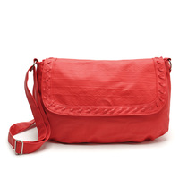Free Shipping  Flap pocket design women messager handbag(3 colors )made by three layer washing leather material  item no:82067