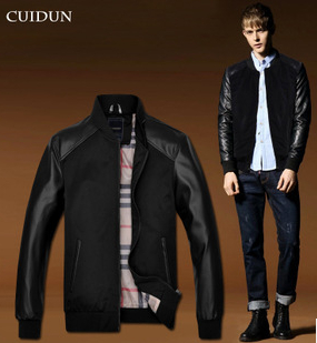 2014 Hot Fashion Brand Clothes Man Jacket College Mens Coat down Jackets Men Sportswear Windcheater winter Clothing Wholesale(China (Mainland))