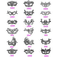 Free shipping 1 PCS Women Girls'Halloween Black Metal Filigree Collection Party Masquerade Mask [WZ993-WZ1010]