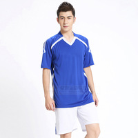 Football jersey short-sleeved jersey suit soccer clothes suit5 color male white training suits sportswear
