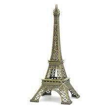 2014 New Household Metal Crafts Bronze Paris Eiffel Tower Figurine Statue Vintage Alloy Model Decor 13cm (China (Mainland))