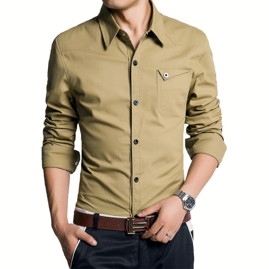 Casual dress shirts for men long sleeve