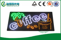 Hidly brand 9*19inch  LED acrylic sign /Low price high quality led open sign /Animaltional electronic open sign