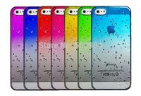 2014 New Gradient RainDrop Hard PC Case for iPhone 4 4S 4G 5 5C 5 5G 5S 6 4.7'' Plus 5.5'' 6+ 3D Rain Drop Clear Plastic Cases