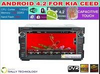 Pure Android 4.2.2 Car DVD Player KIA CEED Venga Soul 2008 2009 2010 2011 Capacitive Dual Core 1.6 GHz 1GB RAM GPS 3G WIFI Radio