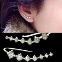 European Statement Fashion gold plated Women 7 Crystal zircon hypoallergenic Lover's Stud Earrings