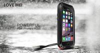 Waterproof Dirtproof Shockproof Hard Case for iphone 6 PLUS Love mei case