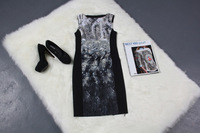 summer dress 2014 office print dress women work wear roupas femininas plus size women clothing long dress