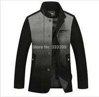 2014 Men's Wool Jacket Warm Dust Coat New Fall&Winter Men Fashion Upscale Woolen Outwear Men Casual Coats/Slim Business Overcoat