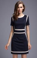 summer dress 2014 office  dress women work wear roupas femininas plus size women clothing long dress victoria beckham dress