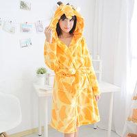 Adult Anime Costume Pajamas  Women Winter Sleep Dressing Gown Warm Sleepwear  Bathrobe