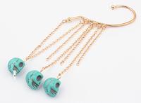 HOT Single skull tassels hanging earrings + Acrylic earrings + Free shipping!