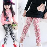 New Lovely Sky pattern close-fitting Cotton Girl's Long Leggings Girl's Stars Pattern Pants Gift for cute girls