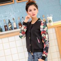 Contrast color Structured Women neoprene Blazer casual jacket coat N10045
