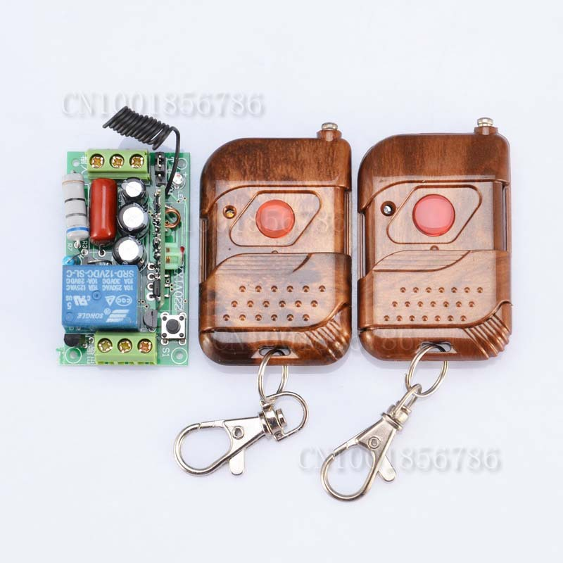RF Wireless 220V Remote Control Switch 1CH Interruptor 10A ;Receiver&2 Transmitter For Light Lamp LED SMD FreeShipping(China (Mainland))
