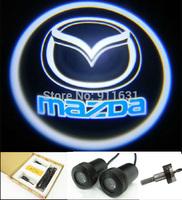 2PCS 4th Generation Car Logo Door Light  For Mazda M2 M3 M6 LED Welcome Light Projector Lamp Bulb Car Logo Shadow Light