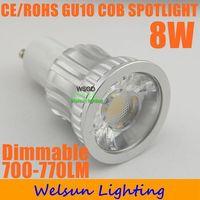 High Brightness 8W 700-770LM dimmable GU10 led Bulbs Lamp Warm white/cool white