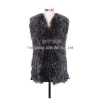 BG30530  Genuine Silver Fox Fur Vest Waistcoat Wholesale Retail Winter Women Vest Waistcoat