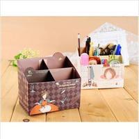 2014 New DIY Paper Board Storage Box Desktop Organizer Makeup Cosmetic Container