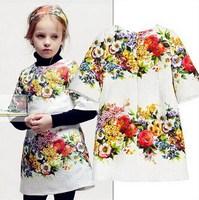 2014 Autumn & Winter BABI girls dress children princess party dresses designer brand child clothes retail & wholesale