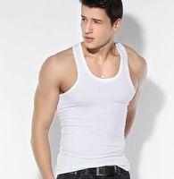 Male vest for sports 100% combed cotton men vest black white grey 3 colors in