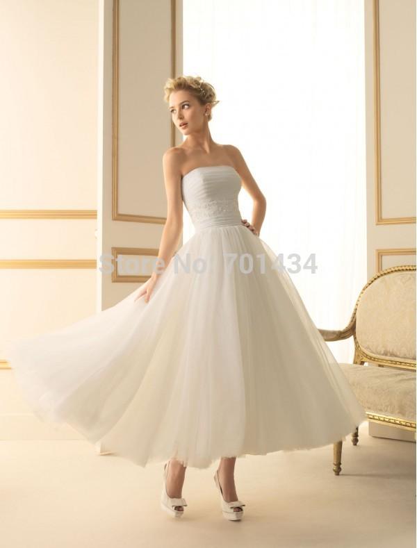 elegante tule vestidos de casamento strapless bola vestido vestido de casamento suzhou made in china gcwd- w056(China (Mainland))