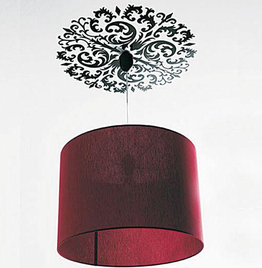 Natale decorazione soffitto : floreale soffitto sticker per finestra lampada decorazione di natale ...
