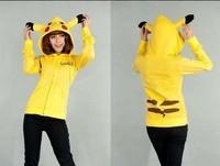 Women  Moletom Pikachu Hoodies Female Sport Casual Outwear Plus Size Zipper Coat