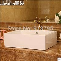 Free shipping bathroom  rectangular sinks wash counter top basins bathroom art basin jy-fx1004