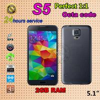 S5 Phone Fingerprint MTK6592 Octa core 2GB RAM i9600 Phone  1920*1080 5.1inch Cell Phones Waterproof Power saving Mobile Phone