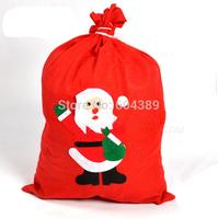 Free shipping 20PCS/Lot 20cmX30cm Christmas gifts bag,promotional gifts bag Santa Claus bag back High-end gift bag children love