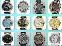 DIESELER top brands calendar quartz watch, men's fashion stainless steel watch, DZ leather band watches sports watch