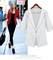 2014 Autumn Fashion Women Blazers,Office Ladie Suit, One Button,Slim style, 4 colors for choice,Freeshipping