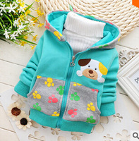 2014 new winter version of boys and girls burst zipper sweater puppies wholesale children's clothing