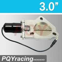 "J2 RACING STORE- 3 inch Universal Exhaust Cutout Billet Butterfly valve +High Motor Brand New 3"""