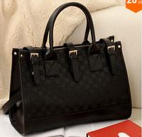 2014 New car suture checkerboard recreation bag, don't buckle design handbags