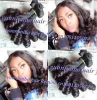Grade 6A 3pcs/lot #1B cheap price peruvian aunty funmi hair weave bouncy curls for black women free shipping