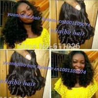 Affordable cheap price !Grade 6A 3pcs/lot #1B peruvian aunty funmi hair weave tip curls for black women free shipping