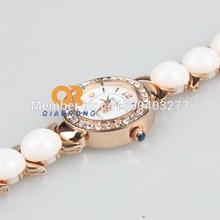 2014 new nice women rhinestones watch female Dress watch Ceramic girl luxury brand quartz waterproof fashion