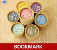 4 boxes / lot , kawaii novelty catoon box metal mini bookmark , metal book line marker as reading accessory